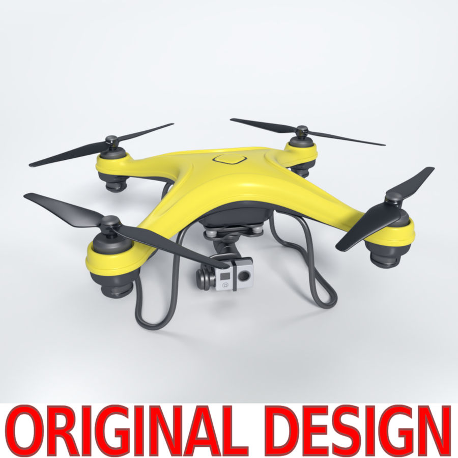 Gneneric Quadcopter Drone V1 royalty-free 3d model - Preview no. 1