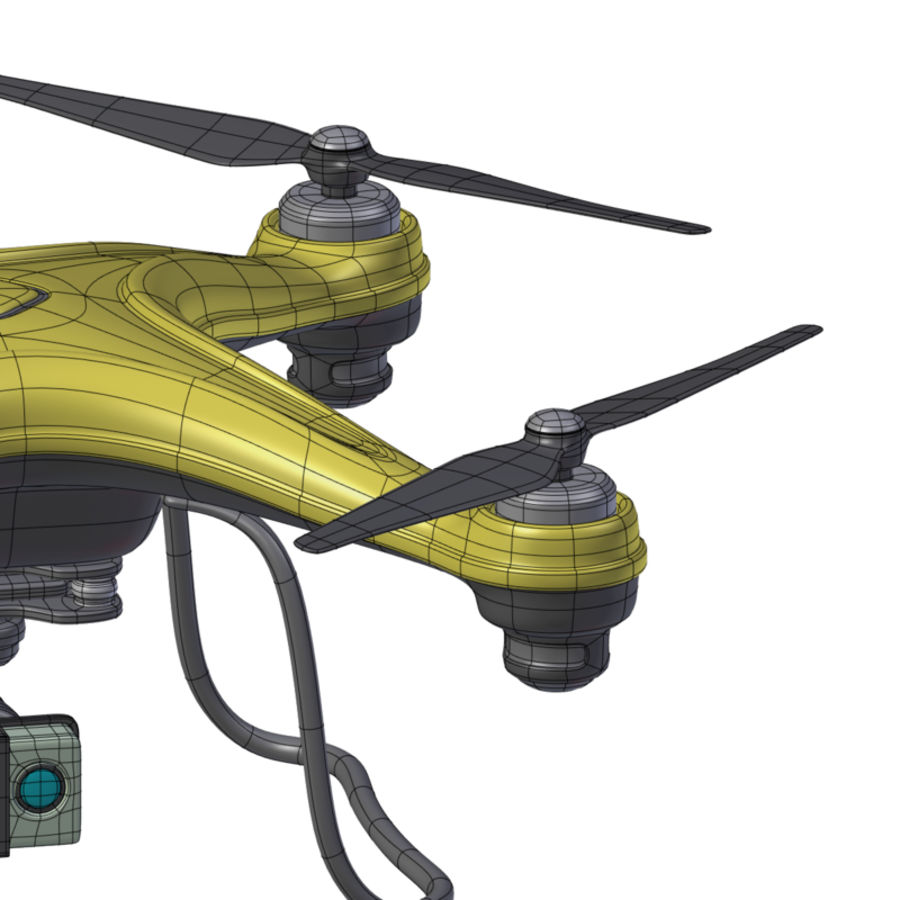 Gneneric Quadcopter Drone V1 royalty-free 3d model - Preview no. 26