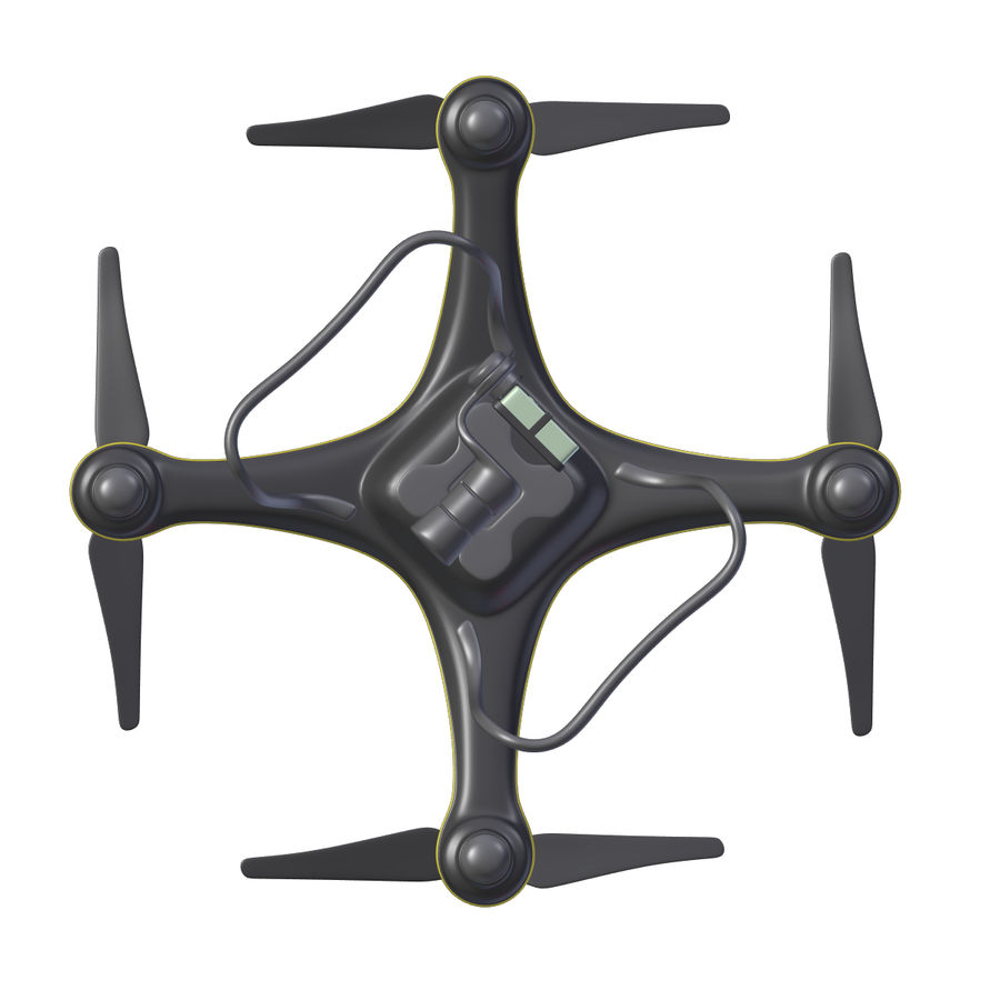 Gneneric Quadcopter Drone V1 royalty-free 3d model - Preview no. 17