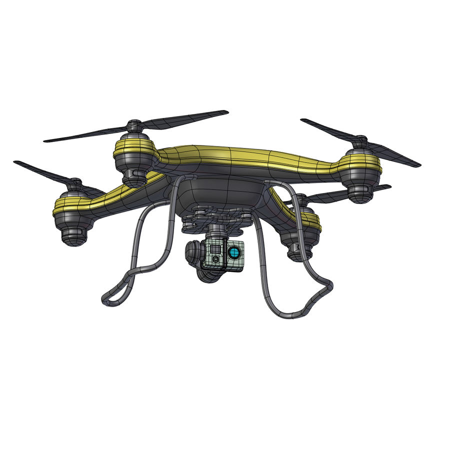 Gneneric Quadcopter Drone V1 royalty-free 3d model - Preview no. 12