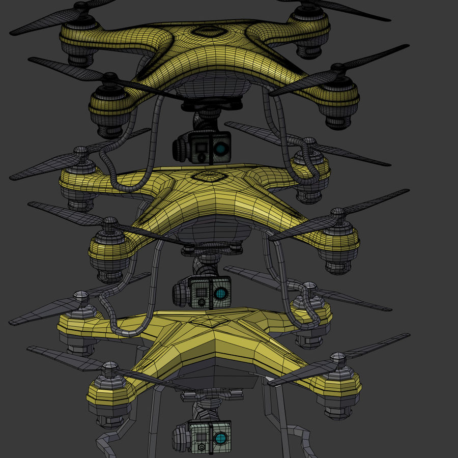 Gneneric Quadcopter Drone V1 royalty-free 3d model - Preview no. 30