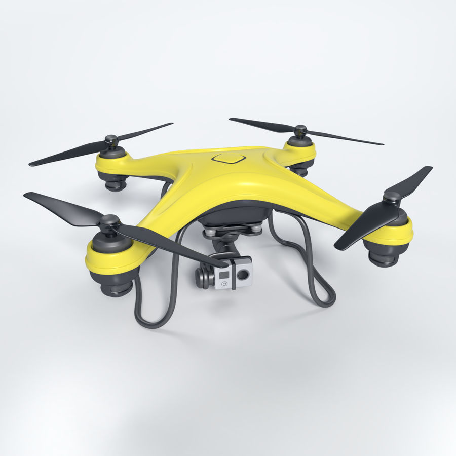 Gneneric Quadcopter Drone V1 royalty-free 3d model - Preview no. 2