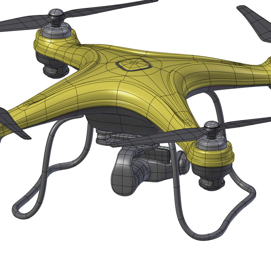 Gneneric Quadcopter Drone V1 royalty-free 3d model - Preview no. 28