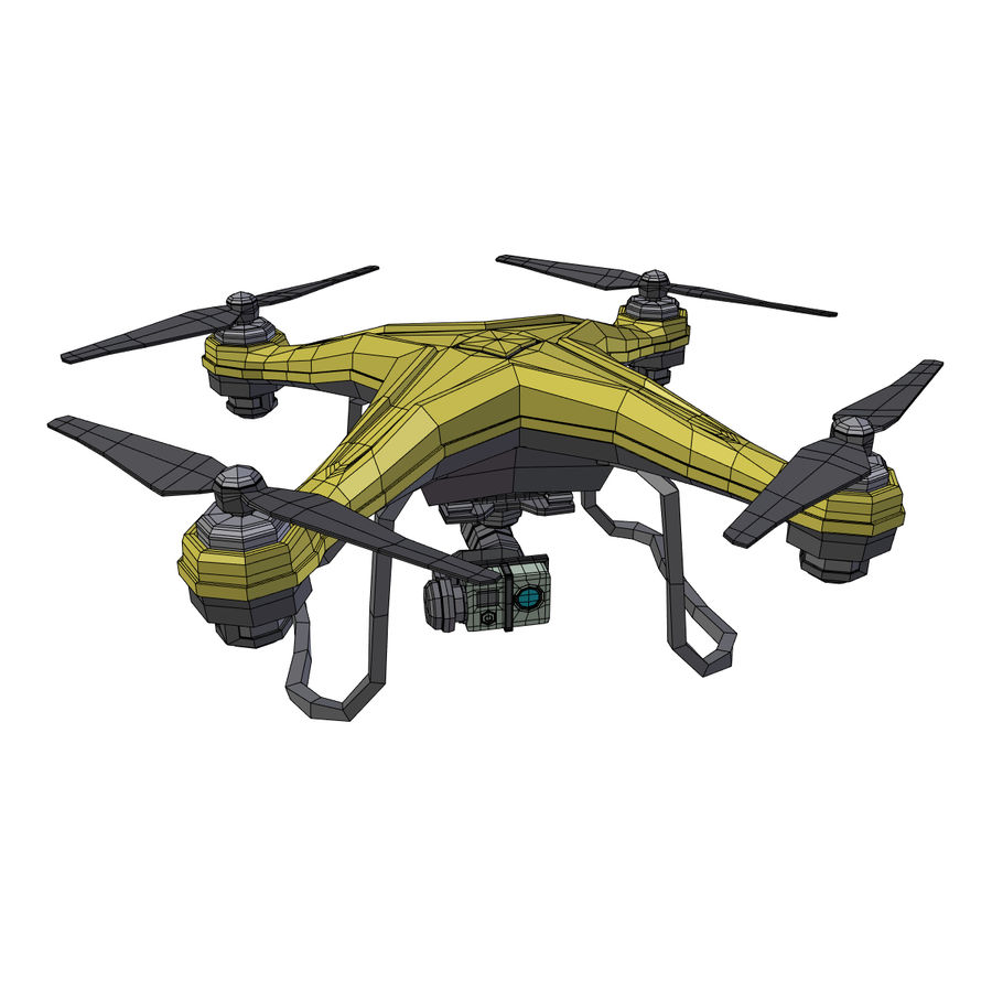 Gneneric Quadcopter Drone V1 royalty-free 3d model - Preview no. 4