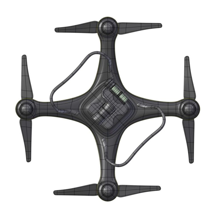 Gneneric Quadcopter Drone V1 royalty-free 3d model - Preview no. 18