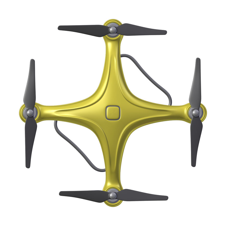 Gneneric Quadcopter Drone V1 royalty-free 3d model - Preview no. 7