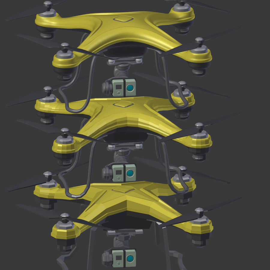 Gneneric Quadcopter Drone V1 royalty-free 3d model - Preview no. 29