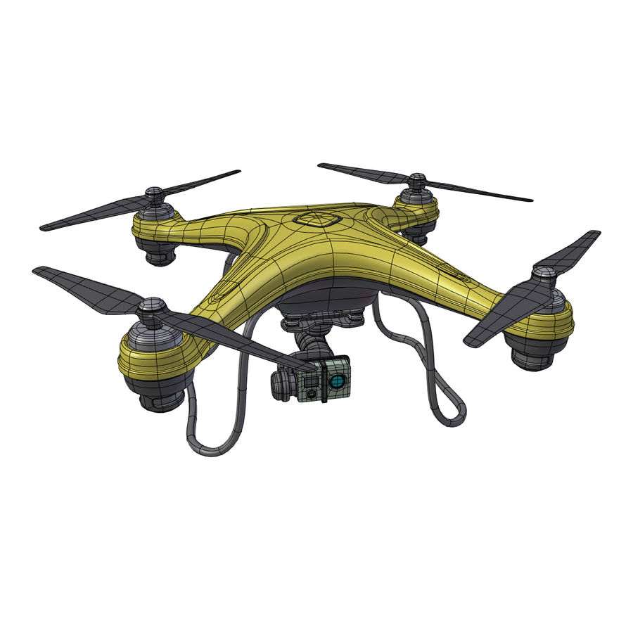Gneneric Quadcopter Drone V1 royalty-free 3d model - Preview no. 3