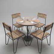 Restauranttafel (1) 3d model