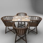 Stół restauracyjny 3d model