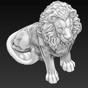Статуя льва 3d model