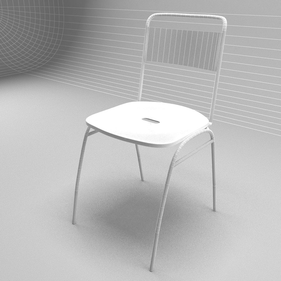 Restaurangbord (4) royalty-free 3d model - Preview no. 14