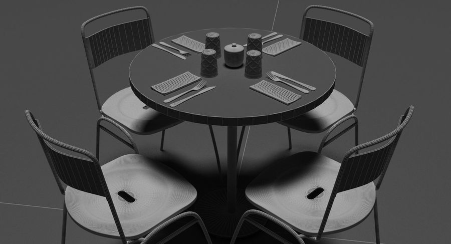 Restaurangbord (4) royalty-free 3d model - Preview no. 20