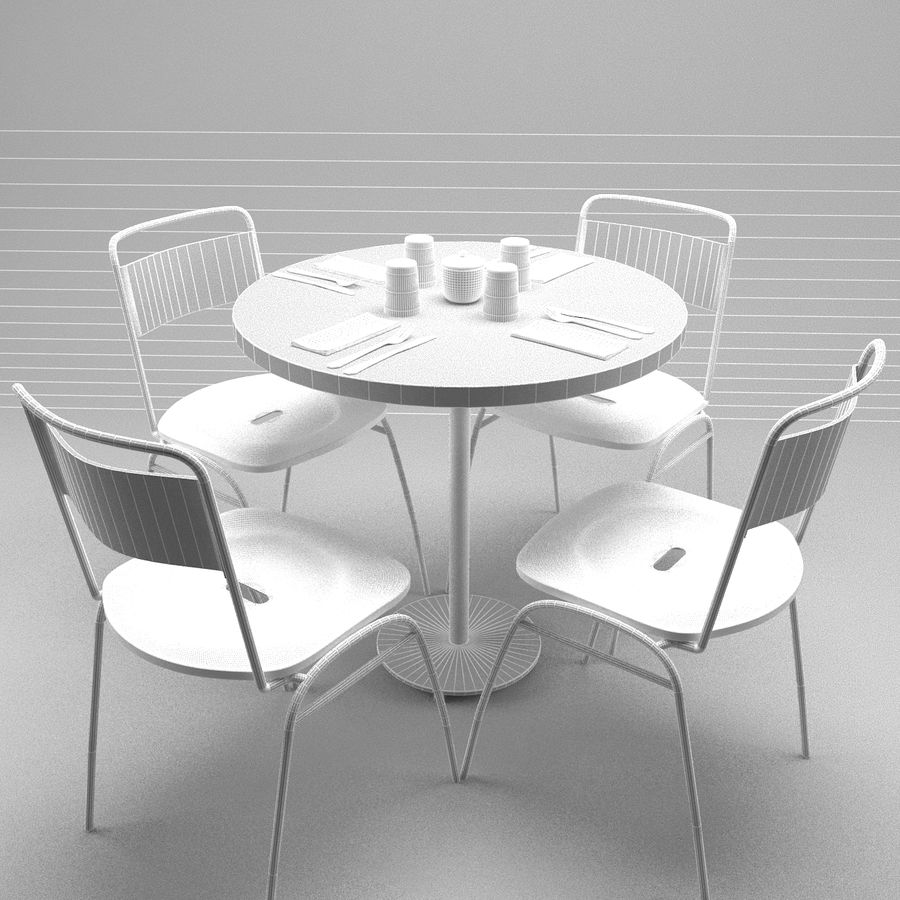 Restaurangbord (4) royalty-free 3d model - Preview no. 10