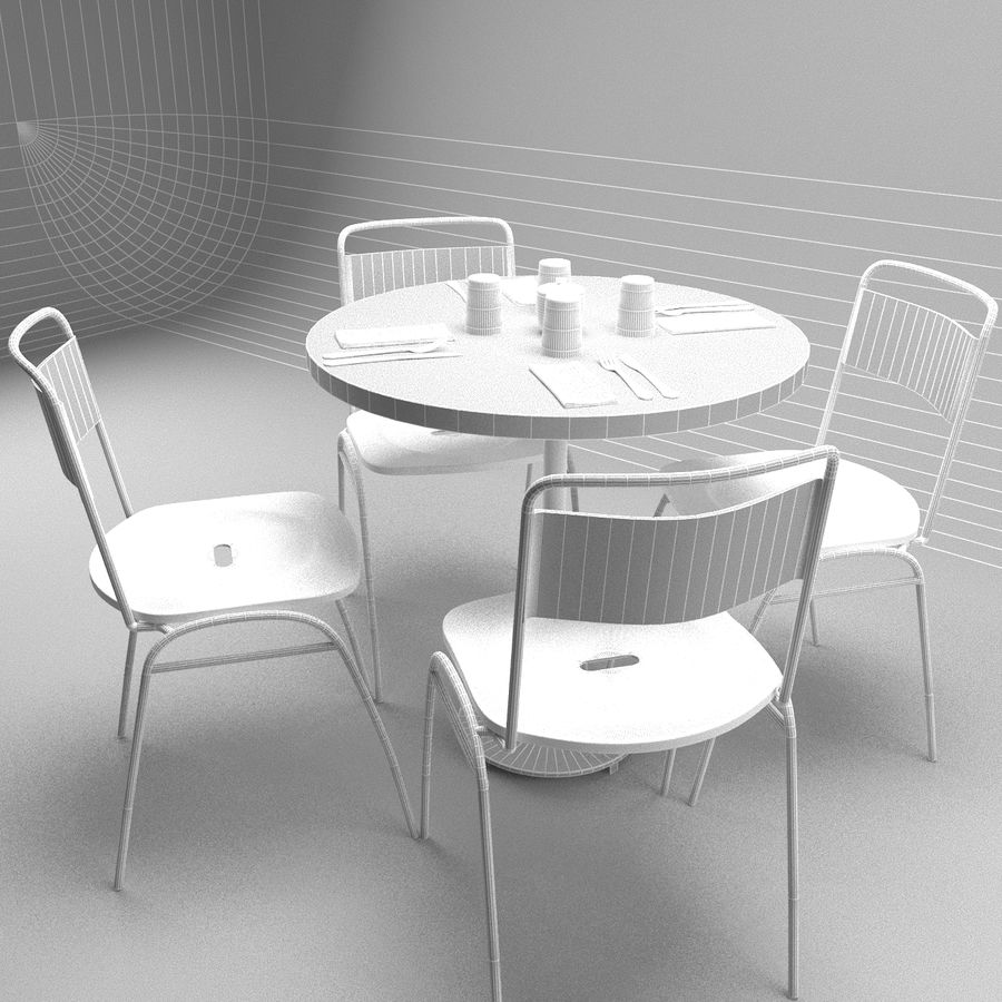Restaurangbord (4) royalty-free 3d model - Preview no. 6