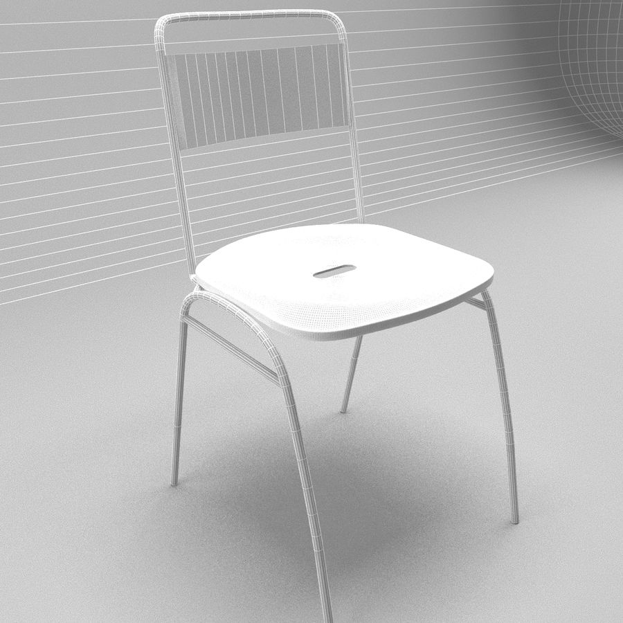 Restaurangbord (4) royalty-free 3d model - Preview no. 12