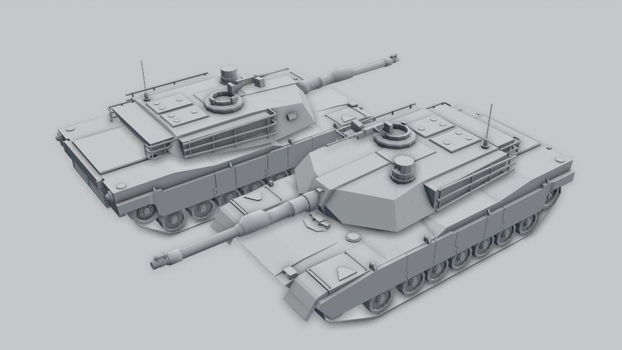 M1A2 ABRAMS Tank royalty-free 3d model - Preview no. 10