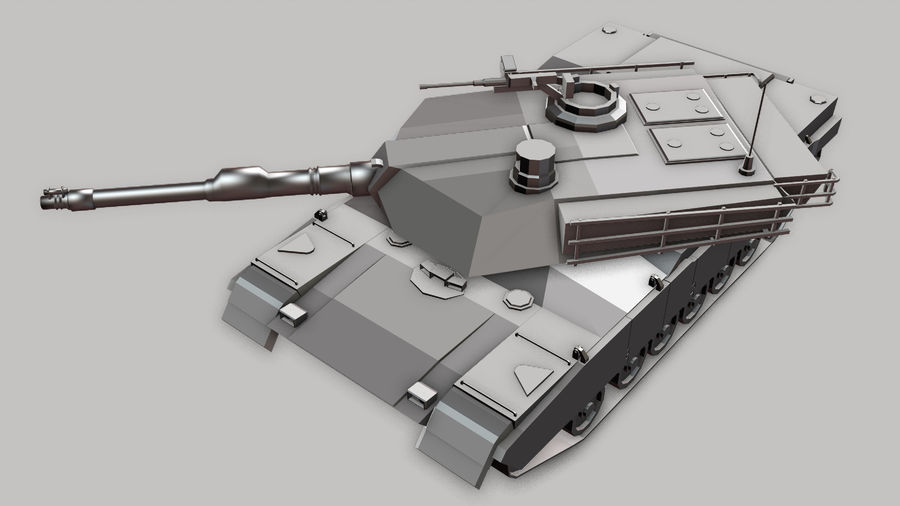 M1A2 ABRAMS Tank royalty-free 3d model - Preview no. 8