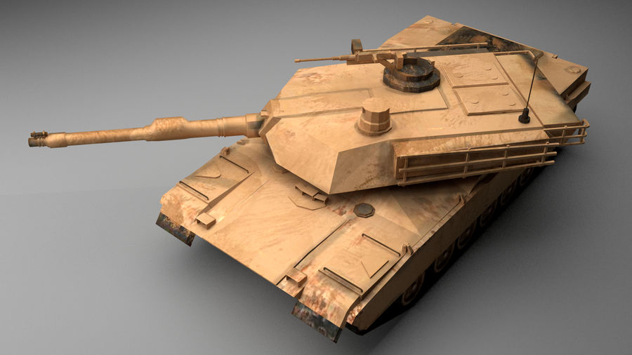 M1A2 ABRAMS Tank royalty-free 3d model - Preview no. 5
