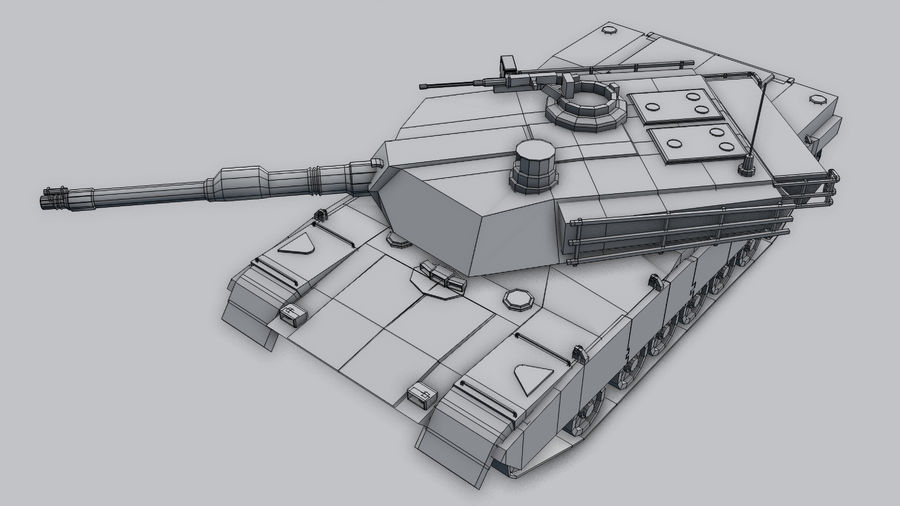 M1A2 ABRAMS Tank royalty-free 3d model - Preview no. 7