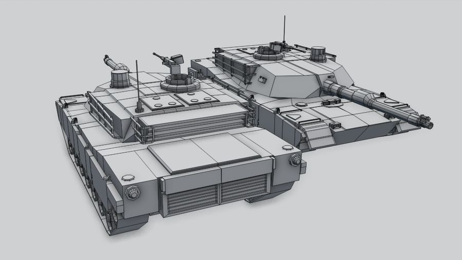 M1A2 ABRAMS Tank royalty-free 3d model - Preview no. 12