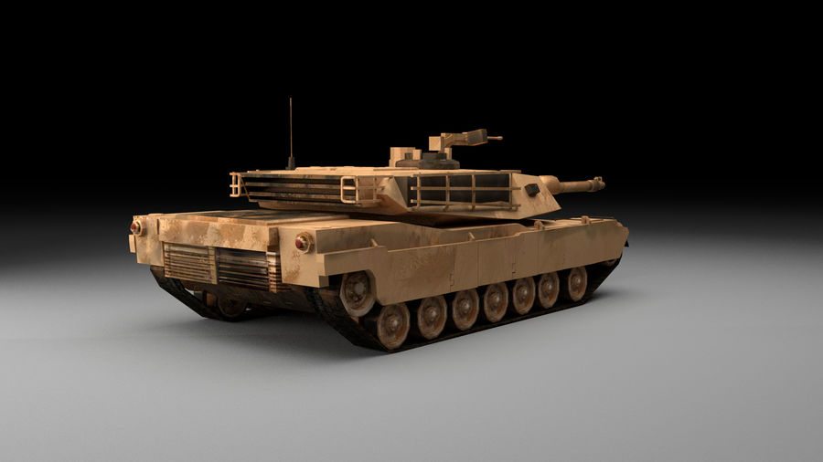 M1A2 ABRAMS Tank royalty-free 3d model - Preview no. 4