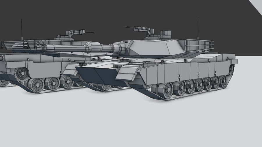 M1A2 ABRAMS Tank royalty-free 3d model - Preview no. 11