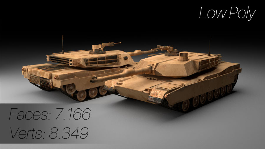 M1A2 ABRAMS Tank royalty-free 3d model - Preview no. 2
