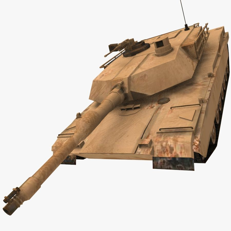 M1A2 ABRAMS Tank royalty-free 3d model - Preview no. 1