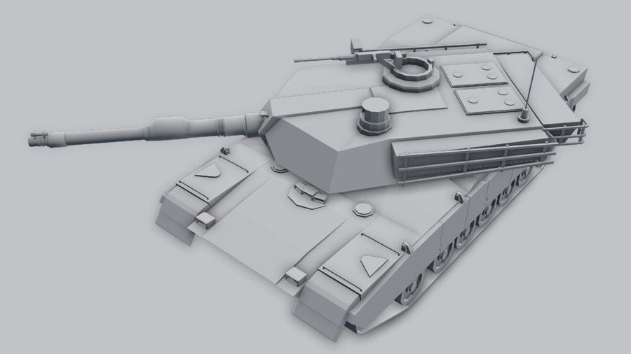 M1A2 ABRAMS Tank royalty-free 3d model - Preview no. 6