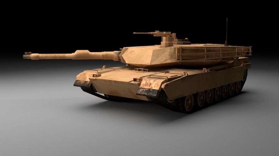 M1A2 ABRAMS Tank royalty-free 3d model - Preview no. 3