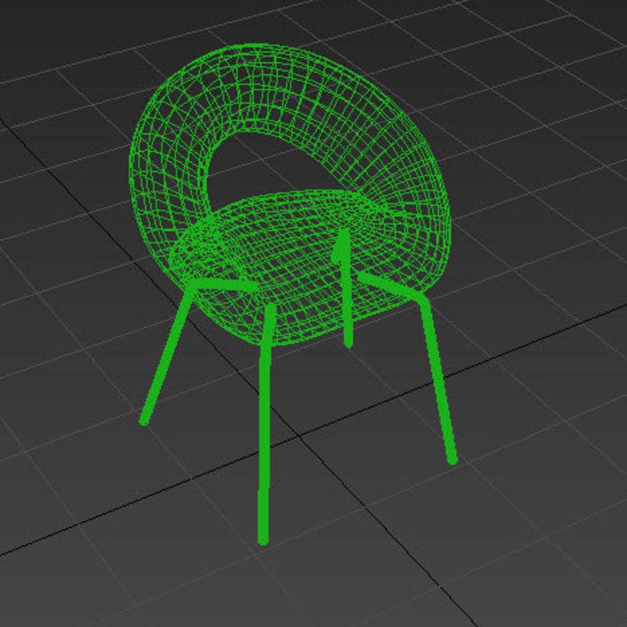 Krzesło-stołek royalty-free 3d model - Preview no. 6