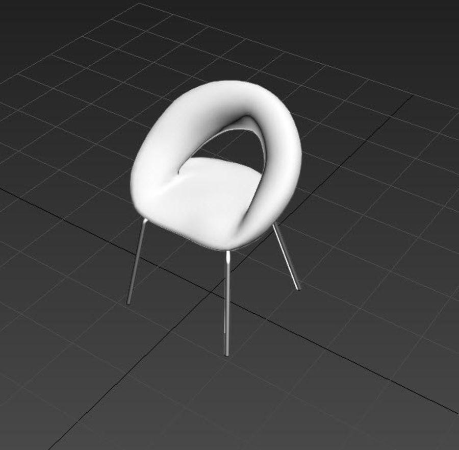 Krzesło-stołek royalty-free 3d model - Preview no. 3