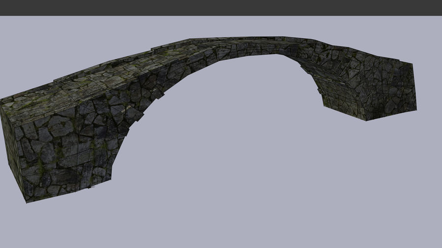 Old stone bridge royalty-free 3d model - Preview no. 4