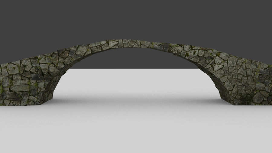 Old stone bridge royalty-free 3d model - Preview no. 5