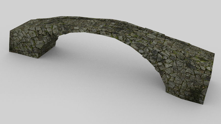Old stone bridge royalty-free 3d model - Preview no. 1