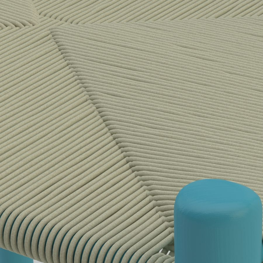 La silla escandinava Wishbone CH24 High Poly modelo de alta calidad en madera azul royalty-free modelo 3d - Preview no. 7