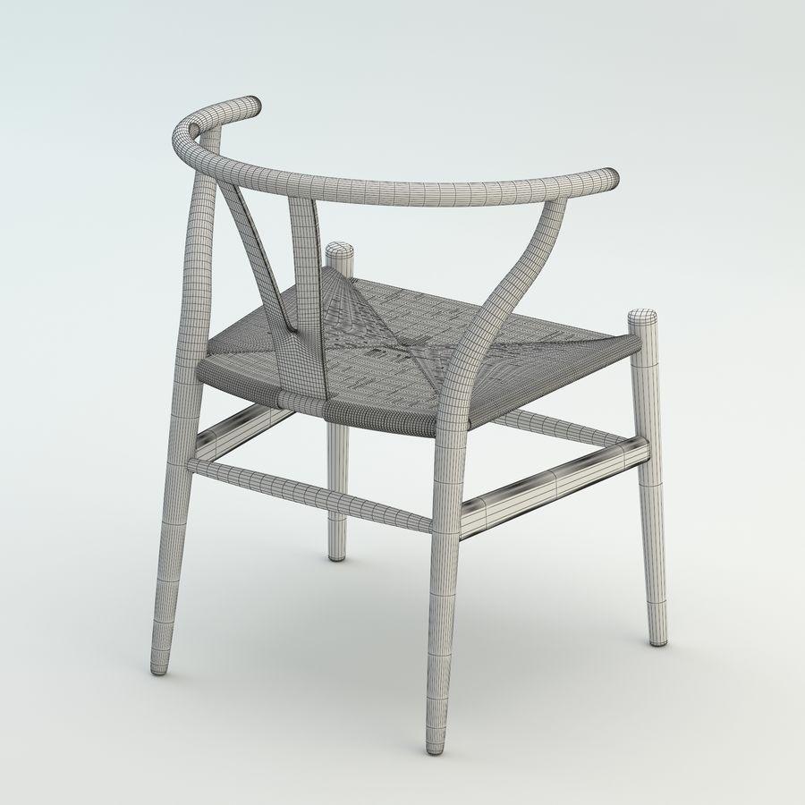 La silla escandinava Wishbone CH24 High Poly modelo de alta calidad en madera azul royalty-free modelo 3d - Preview no. 9