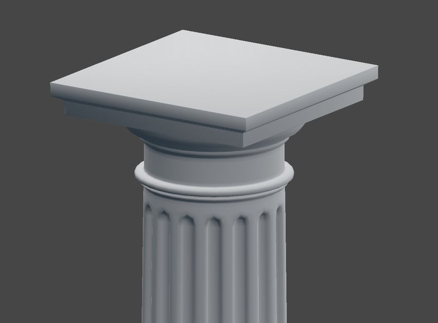 Doric Column royalty-free 3d model - Preview no. 7