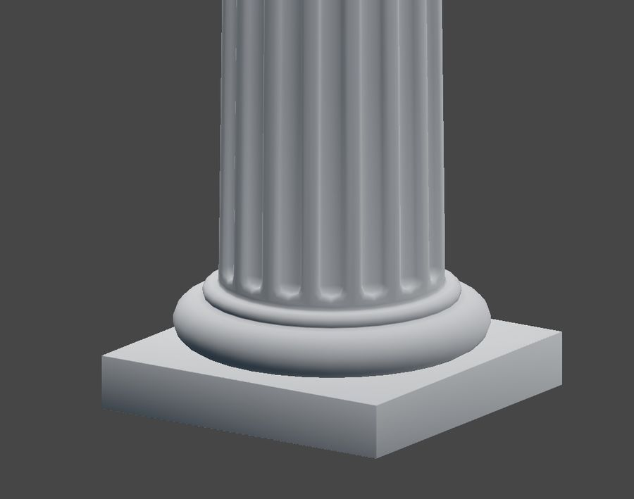 Doric Column royalty-free 3d model - Preview no. 8
