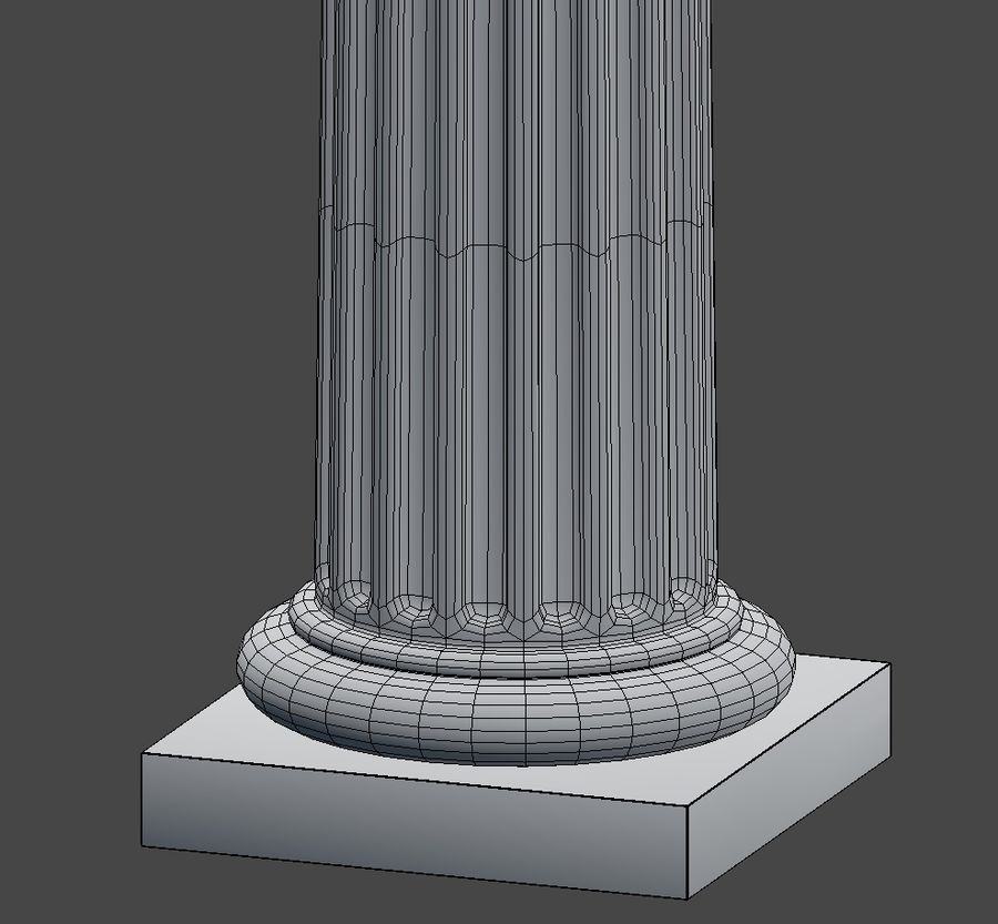 Doric Column royalty-free 3d model - Preview no. 13
