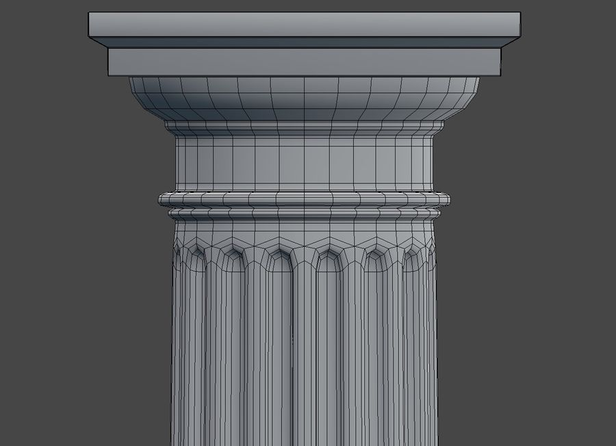 Doric Column royalty-free 3d model - Preview no. 11