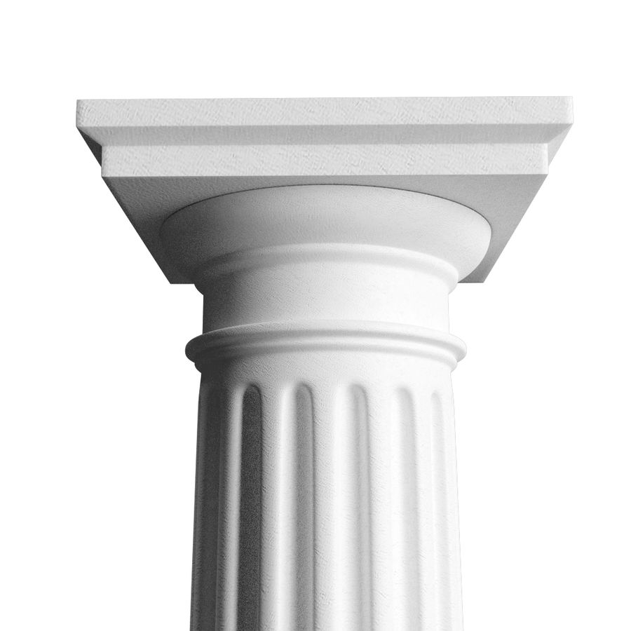 Doric Column royalty-free 3d model - Preview no. 1