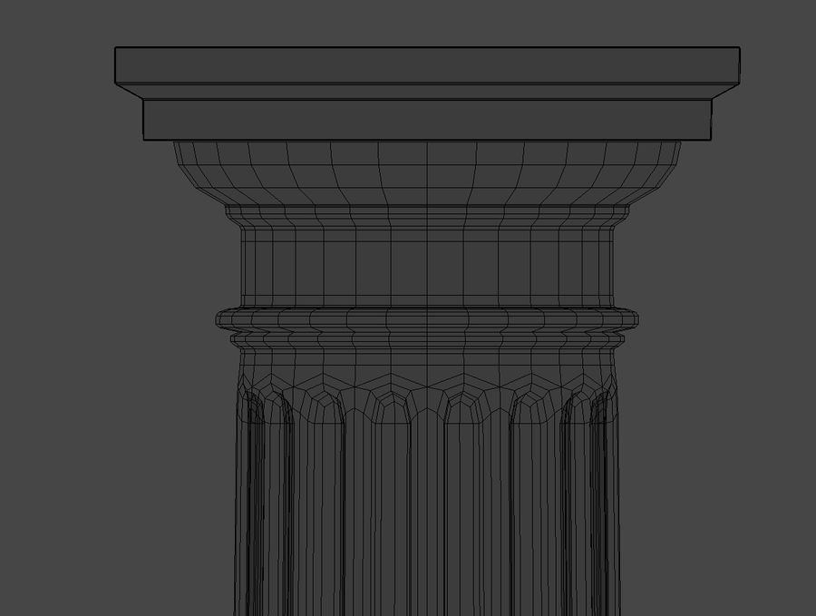 Doric Column royalty-free 3d model - Preview no. 14