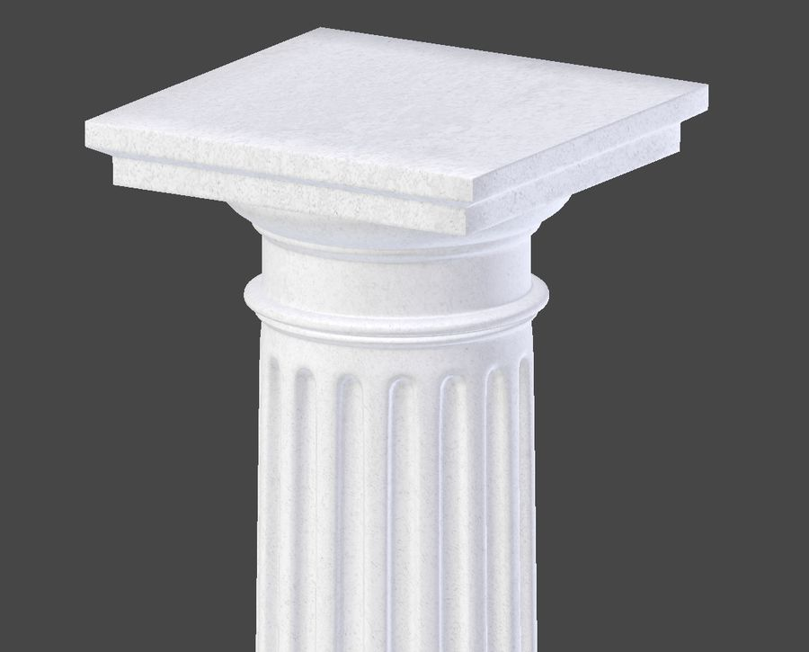 Doric Column royalty-free 3d model - Preview no. 10