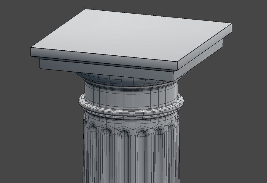 Doric Column royalty-free 3d model - Preview no. 12