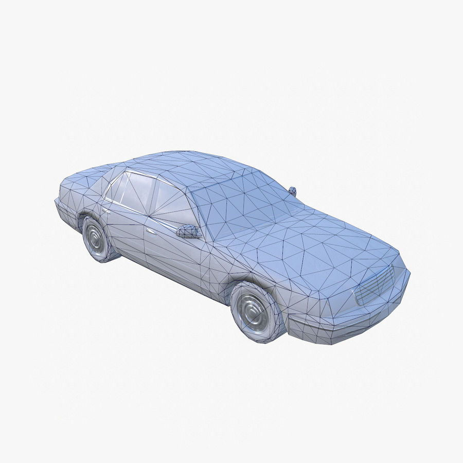 Old Car Taxi (low poly) royalty-free 3d model - Preview no. 9