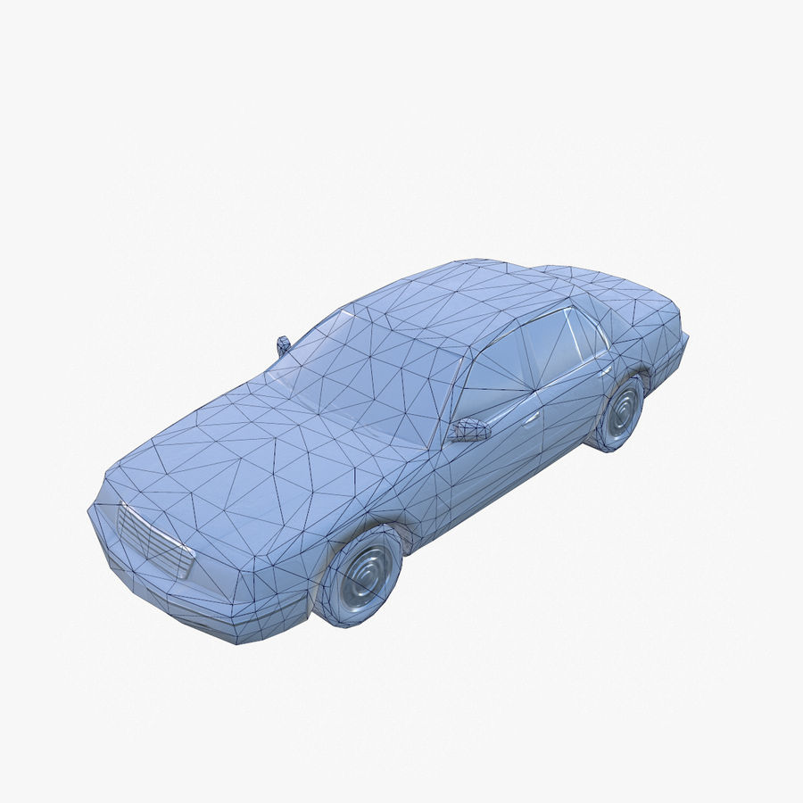 Old Car Taxi (low poly) royalty-free 3d model - Preview no. 6