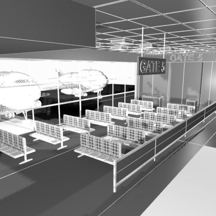 Çizgi Film Havaalanı Bekleme Odası royalty-free 3d model - Preview no. 8