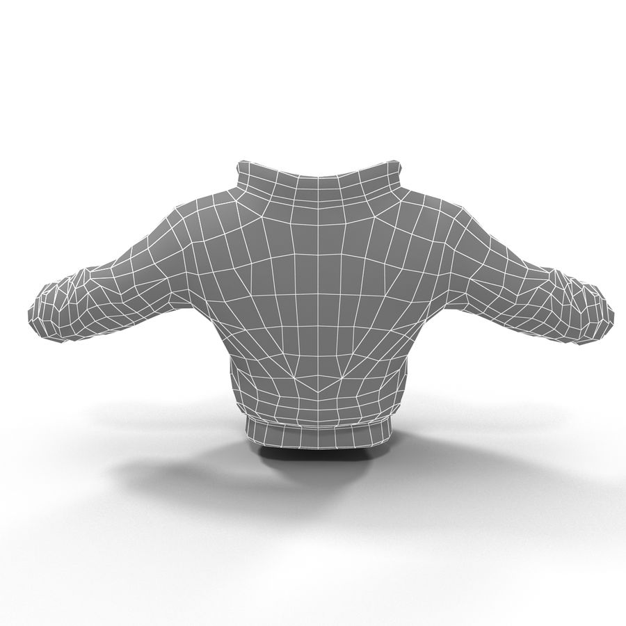 Спортивная куртка royalty-free 3d model - Preview no. 9